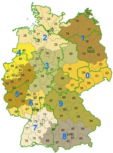 Német irányítószámok